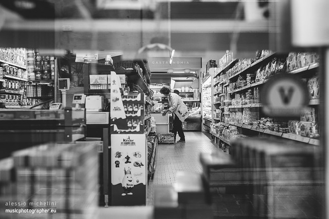 Grocery shop in Arcevia, Italy